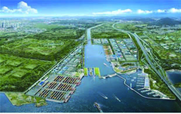 Incheon Terminal Logistics Complex in the Keyongin Port of the Kyeongin Ara Waterway 1